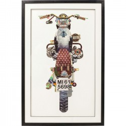 Tableau Frame Art Motorbike 107x69cm Kare Design
