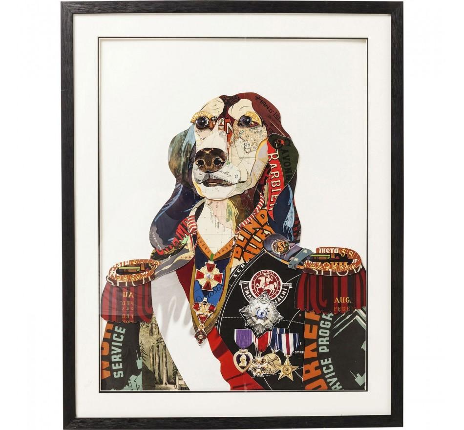 Tableau Frame Art General Dog 90x72cm Kare Design