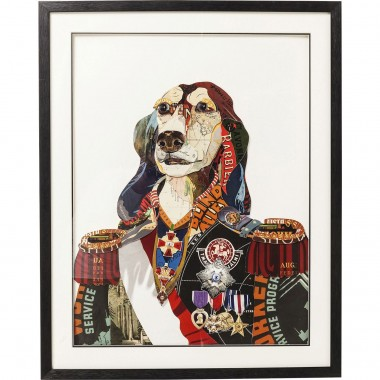 Tableau Frame Art General Dog 90x72cm Kare Design