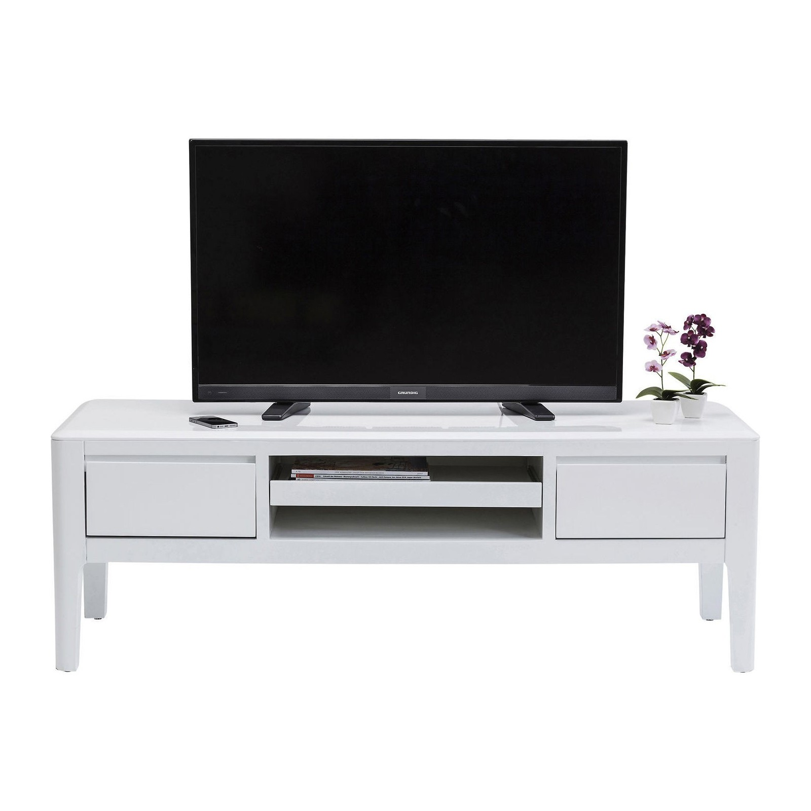meuble tv design blanc brooklyn kare design. Black Bedroom Furniture Sets. Home Design Ideas