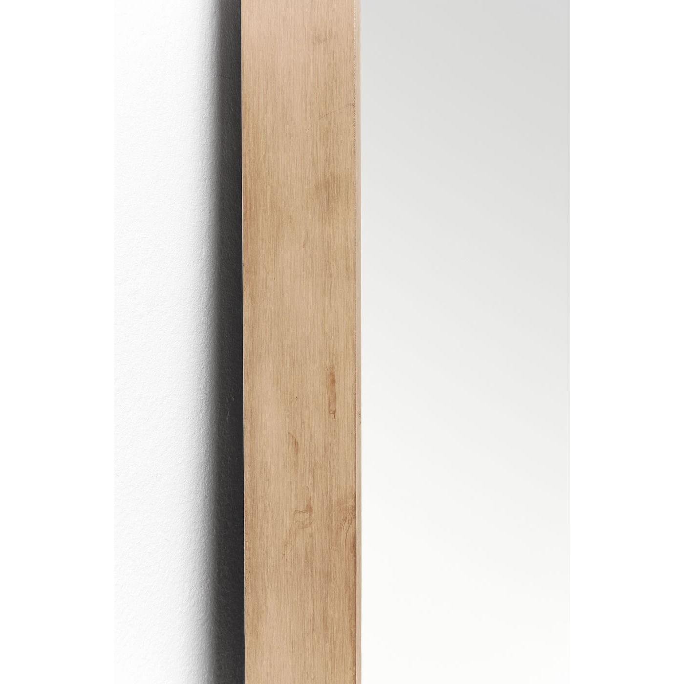 Miroir Curve rectangulaire cuivre 200x70cm Kare Design