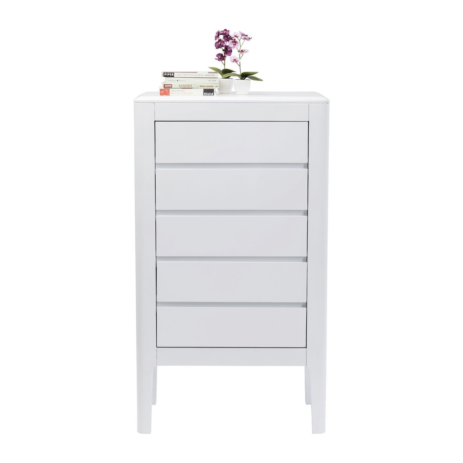 Commode haute Brooklyn blanche 5 tiroirs Kare Design
