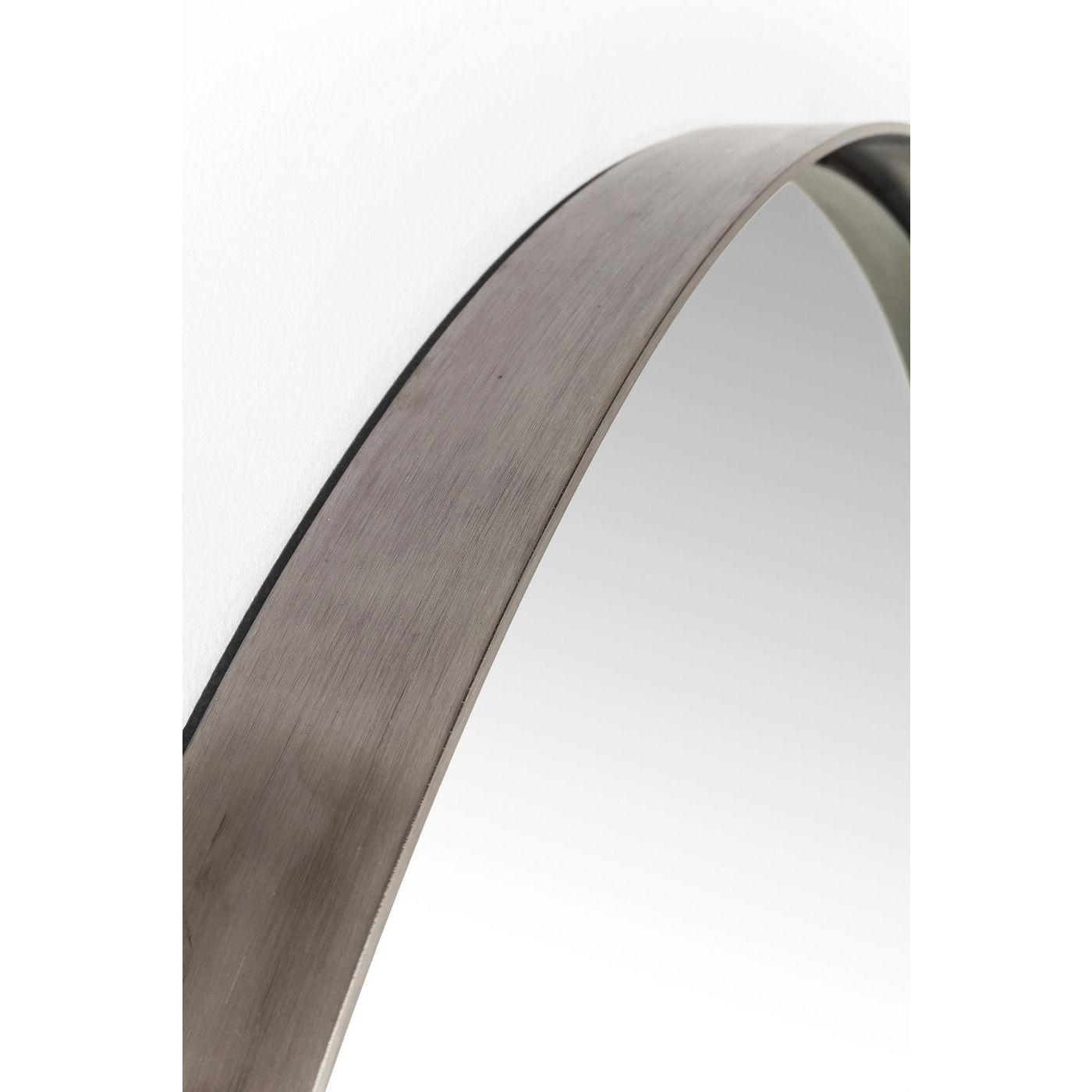 Miroir Curve rond acier 100cm Kare Design