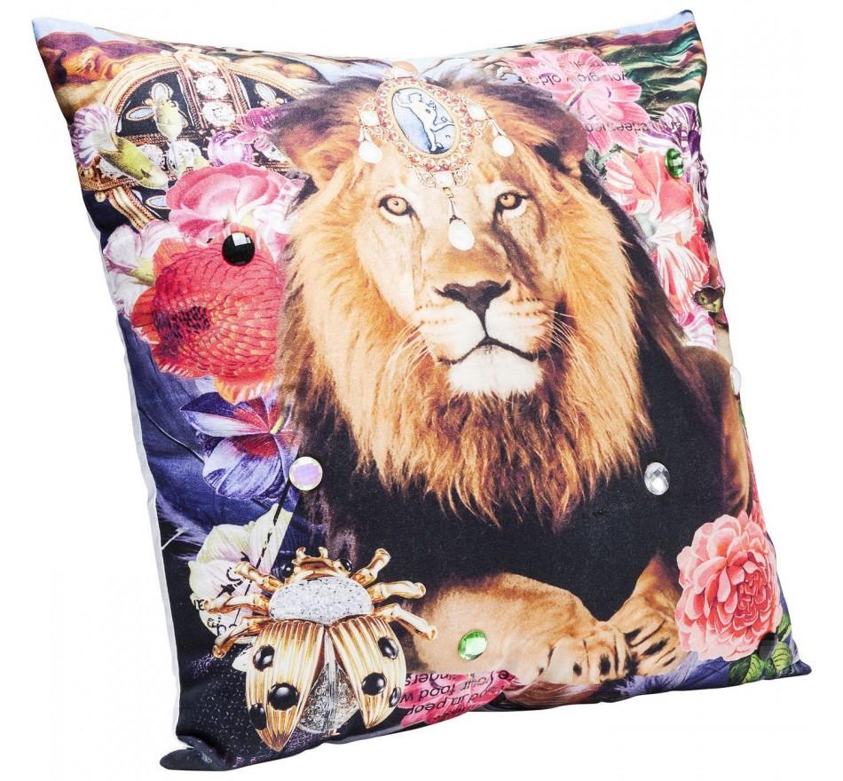 Coussin Bollywood Lion 45x45cm Kare Design