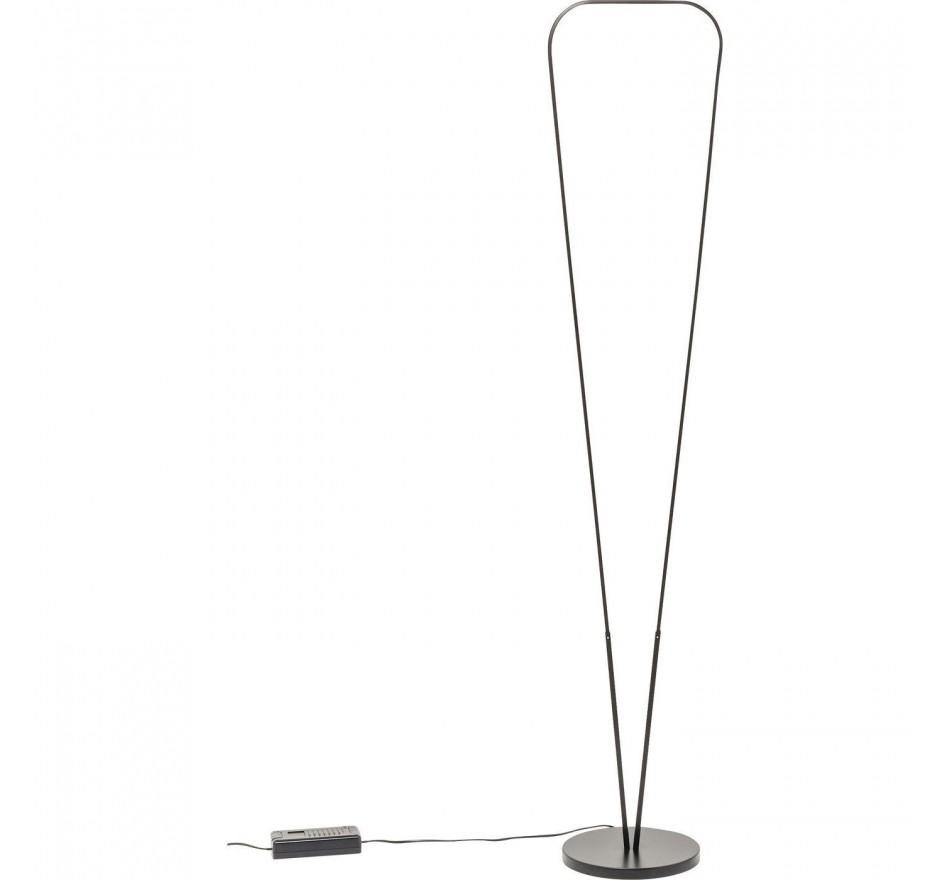 Lampadaire Triangle noir LED Kare Design