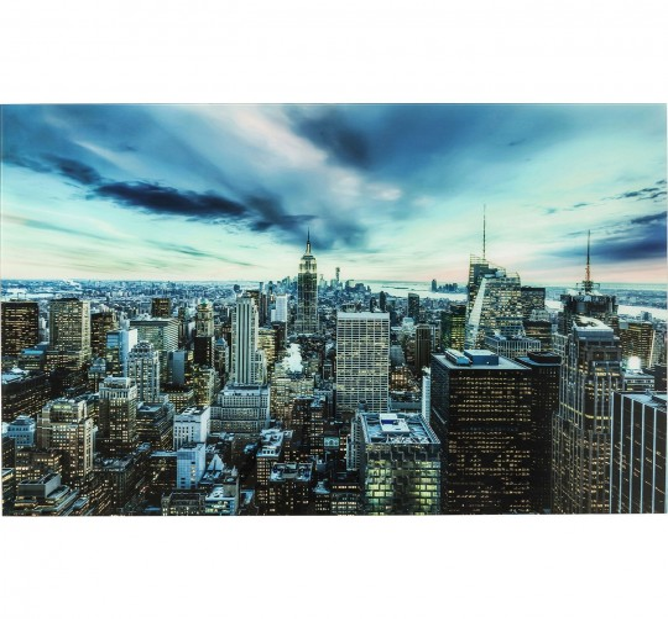 Tableau en verre New York Sunset 80x120cm Kare Design