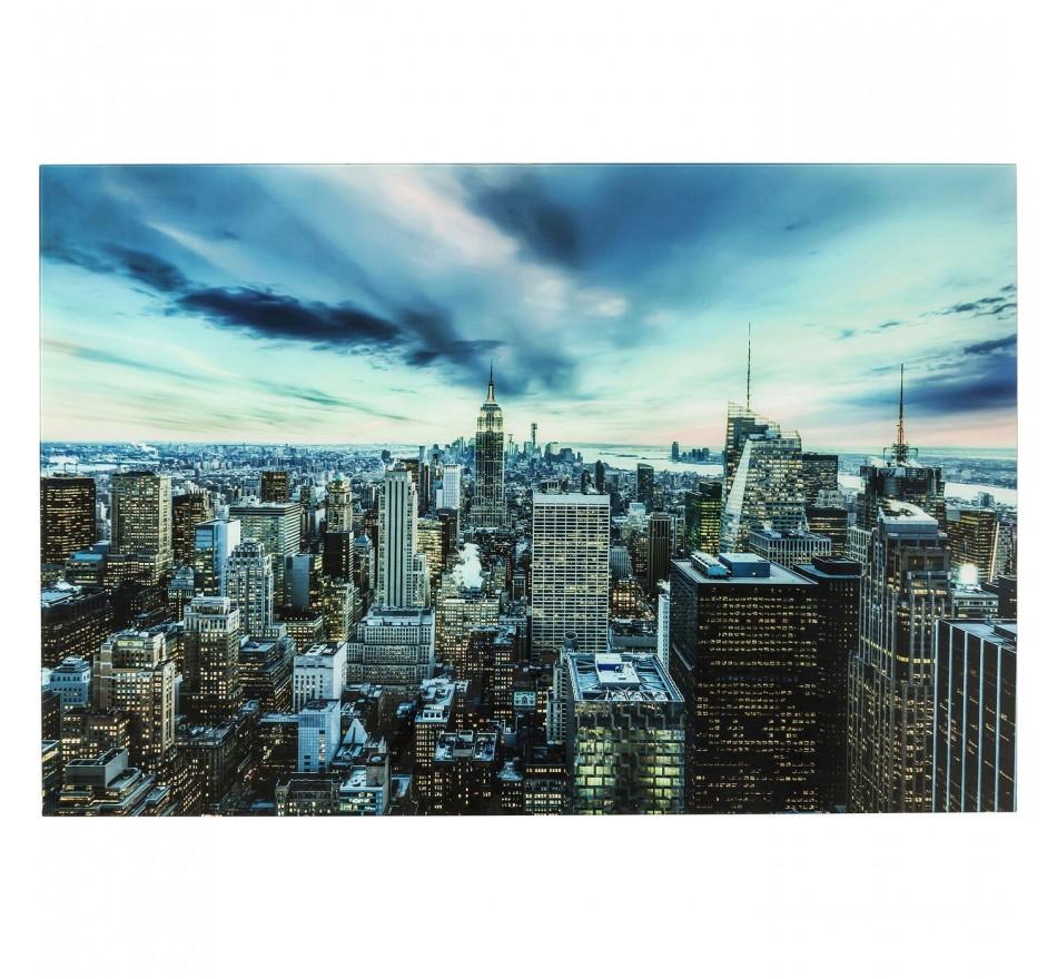 Tableau en verre New York Sunset 160x120cm Kare Design