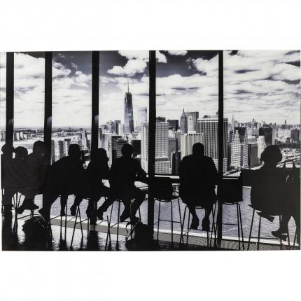 Tableau en verre Silhouettes 80x120cm Kare Design
