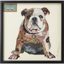 Tableau Frame Art Bulldog 61x61cm Kare Design