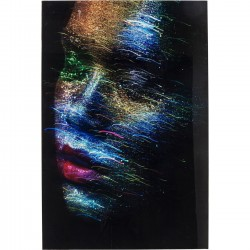 Tableau en verre Face the World Profil 120x80cm Kare Design