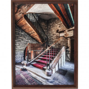 Tableau Frame Old Staircase Red Carpet 80x60cm Kare Design