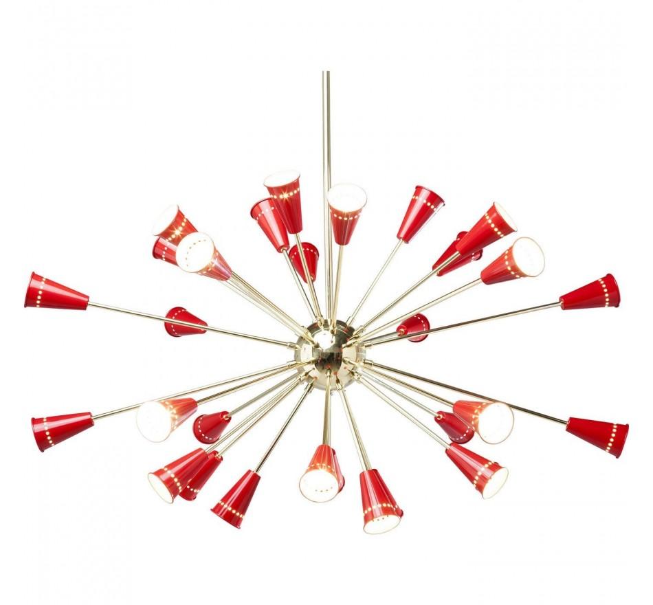 Suspension Atmosphere doré- rouge Kare Design