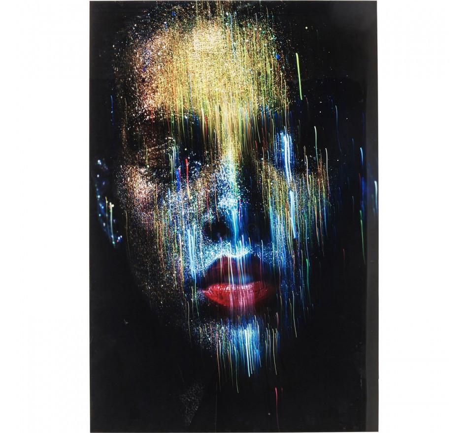 Tableau en verre Face the World Front 120x80cm Kare Design