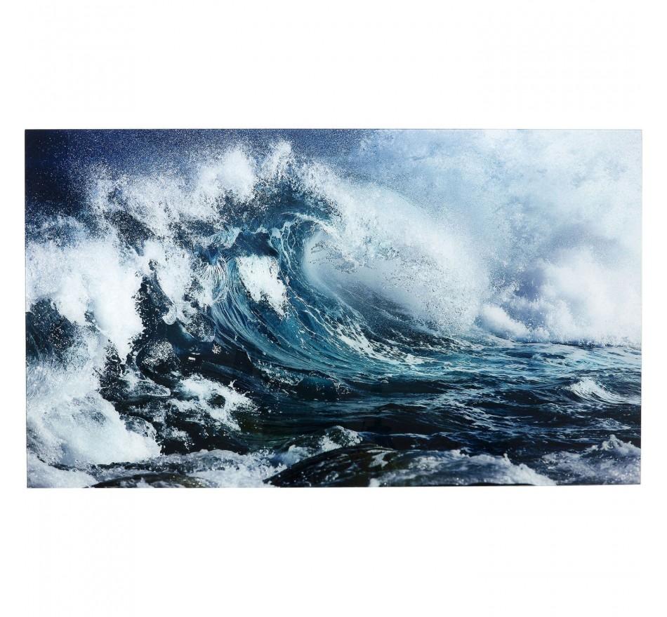Tableau en verre Wave 70x120cm Kare Design