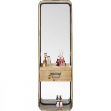 Miroir Curve à tiroir 120x36cm Kare Design