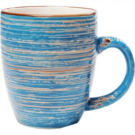 Mugs Swirl Blue set de 4 Kare Design