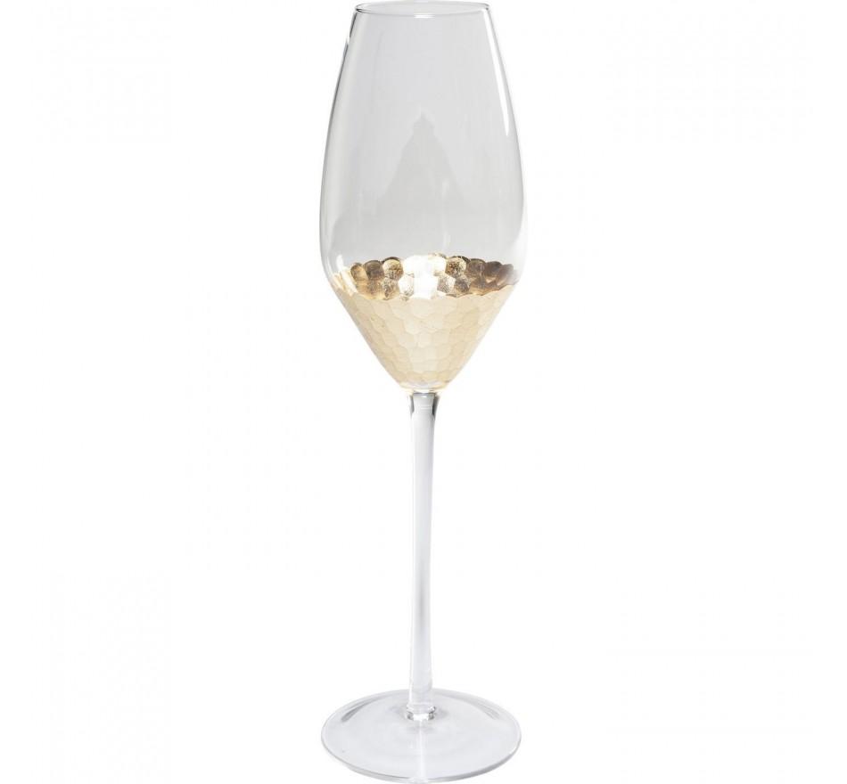 Flûtes à champagne Gobi set de 6 Kare Design