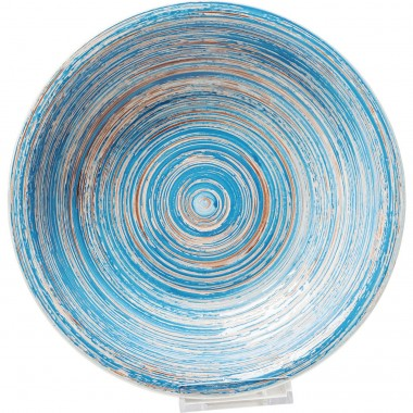 Assiettes creuses Swirl Blue 21cm set de 4 Kare Design
