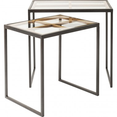Tables d'appoint Beam set de 2 Kare Design