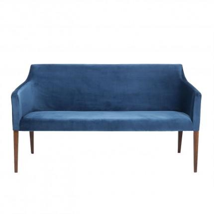 Banquette Mode velours bleu pétrole Kare Design