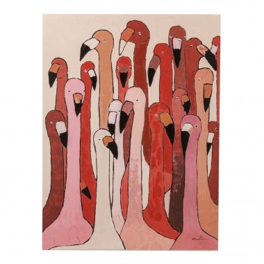 Tableau Touched Flamingo Meeting 120x90cm Kare Design