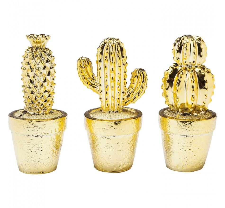 Objet décoratif Cactus Desert doré assorti Kare Design