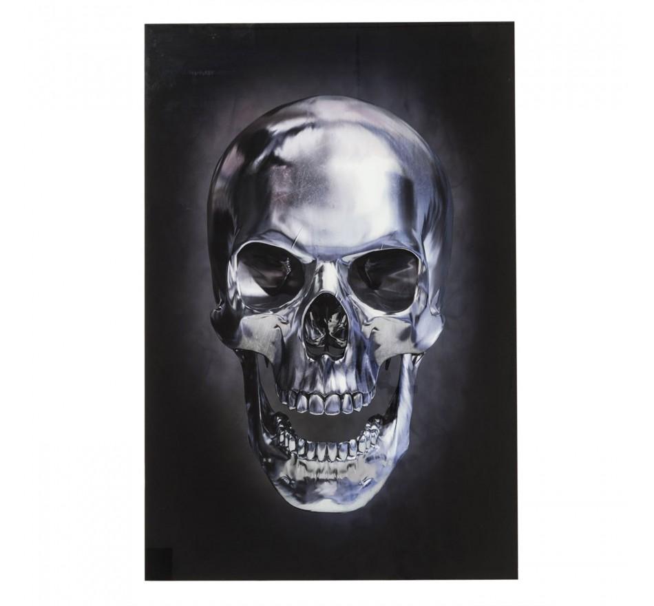 Tableau en verre Skull 120x80cm Kare Design
