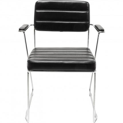 Chaise avec accoudoirs Dottore noire Kare Design
