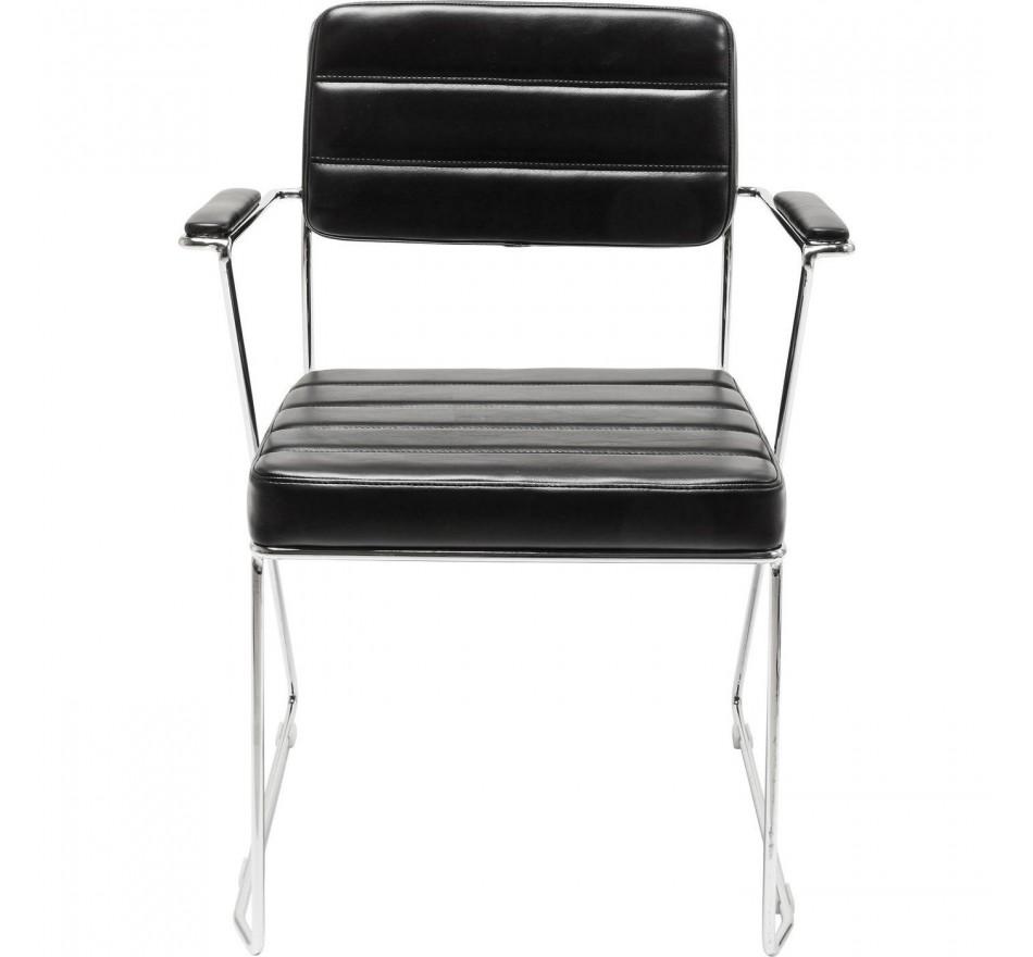 Chaise avec accoudoirs Dotore noir Kare Design