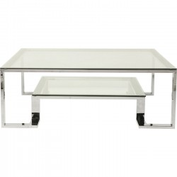 Table basse Rush 120x120cm argentée Kare Design