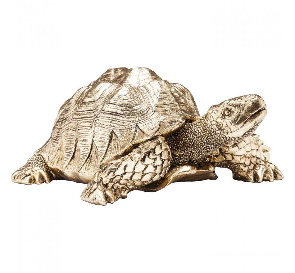 Déco Turtle dorée 11cm Kare Design