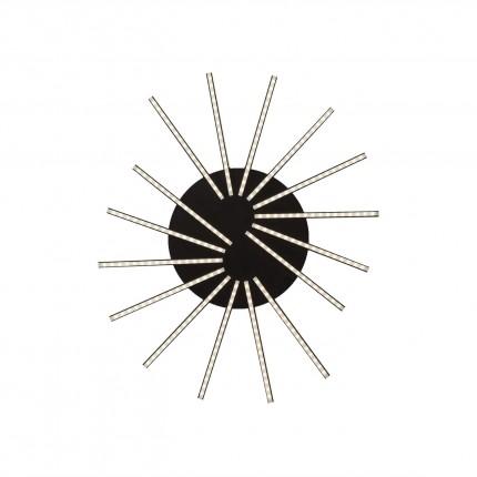 Applique Radiation noir LED Kare Design
