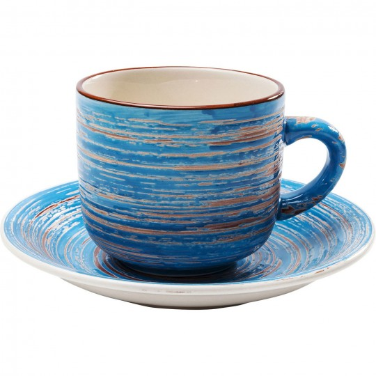 Tasses Swirl Blue set de 4 Kare Design