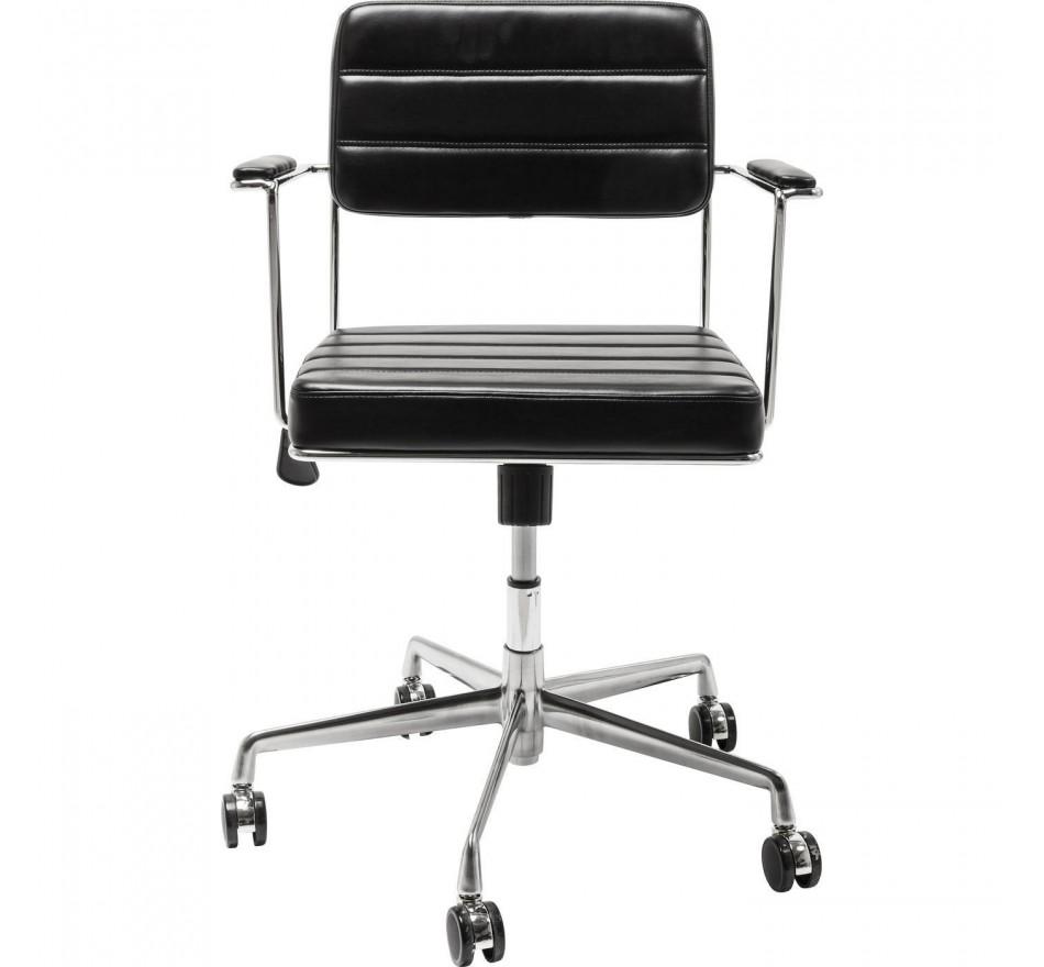 Chaise de bureau pivotante Dottore noir Kare Design