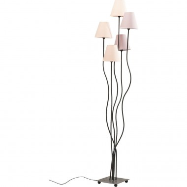 Lampadaire Flexible 5 bras 163cm rose Kare Design
