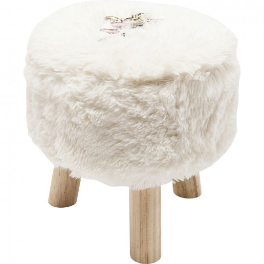 Tabouret Fur Birds Flower 32cm Kare Design