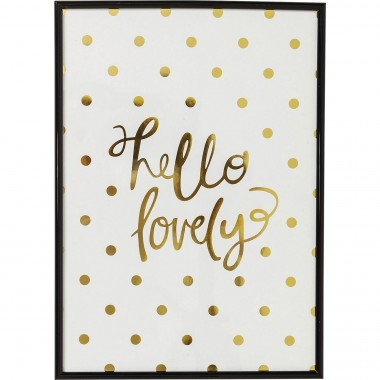 Tableau Frame Hello Lovely 42x30cm Kare Design