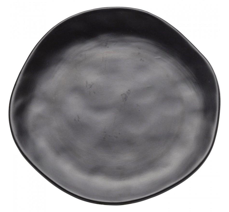 Assiettes Organic noires 26cm set de4 Kare Design