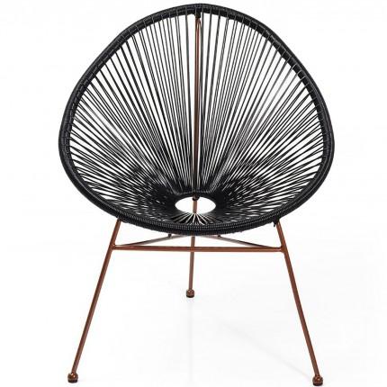 Fauteuil de jardin Spaghetti noir et cuivre Kare Design
