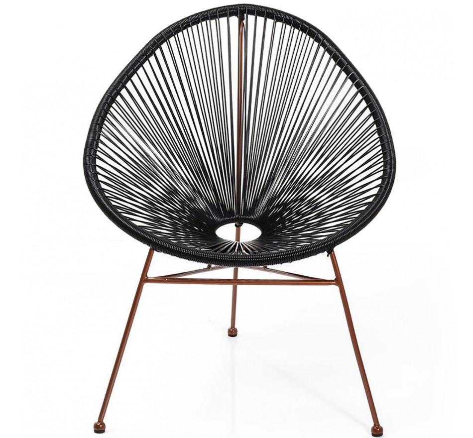 Chaise Spaghetti cuivre noir Kare Design