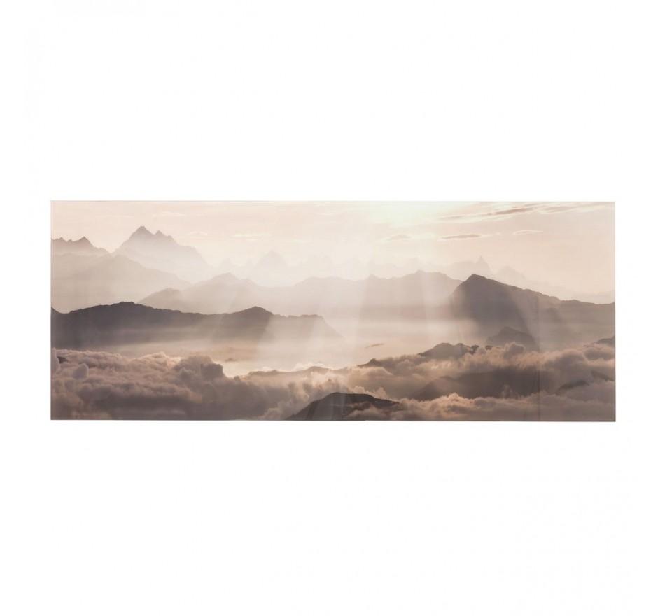 Tableau en verre Rays of Sunlight 70x180cm Kare Design