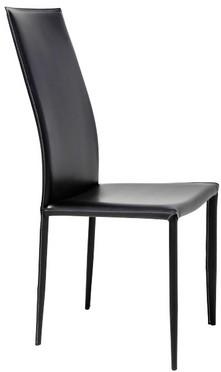 Chaise en cuir Milano noire haute Kare Design