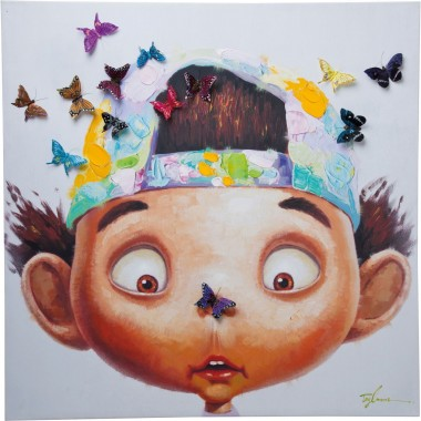 Tableau Touched boy with Butterflys Kare Design