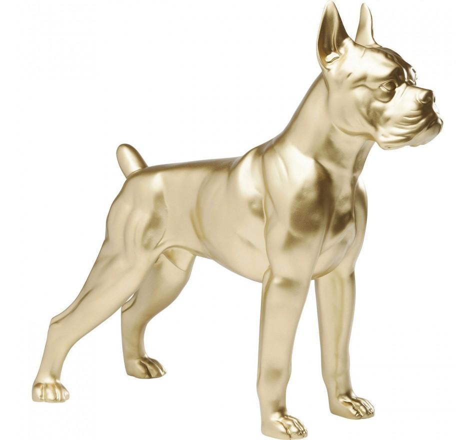Déco chien Toto dorée 44 cm Kare Design