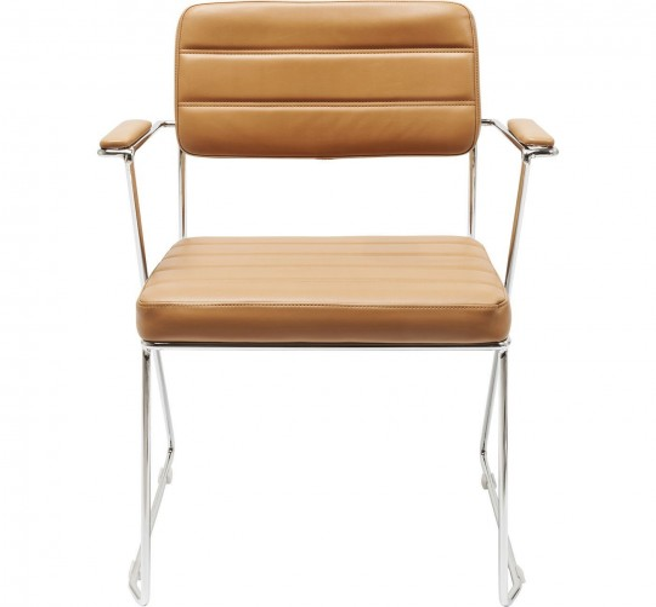 Chaise avec accoudoirs Dottore marron clair Kare Design