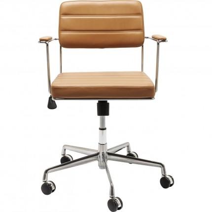 Chaise de bureau pivotante Dottore marron clair Kare Design