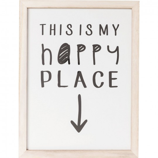 Tableau Frame My Happy Place 50x38cm Kare Design