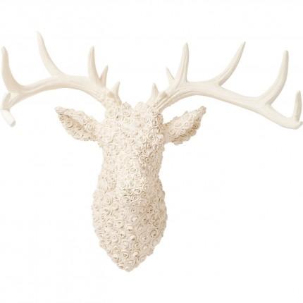 Tête Cerf roses blanches Kare Design