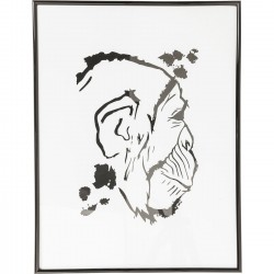Tableau Frame Monkey Face 50x38cm Kare Design