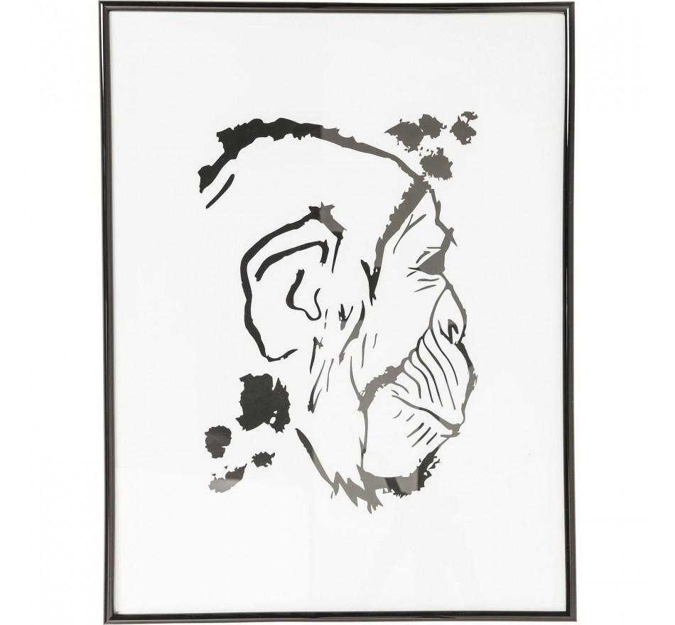Tableau Frame Monkey Face 50x38cm Kare Design